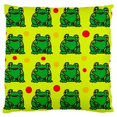 Green frogs Large Cushion Case (Two Sides)