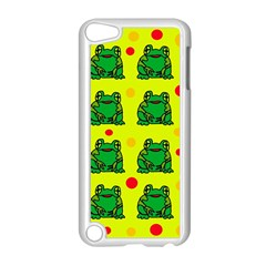 Green frogs Apple iPod Touch 5 Case (White)