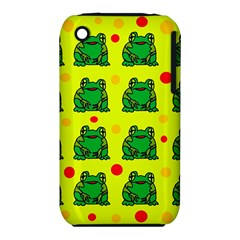 Green frogs Apple iPhone 3G/3GS Hardshell Case (PC+Silicone)