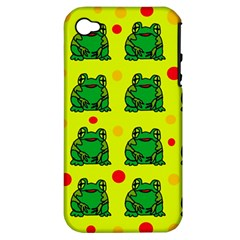 Green frogs Apple iPhone 4/4S Hardshell Case (PC+Silicone)