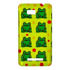 Green frogs HTC One SU T528W Hardshell Case