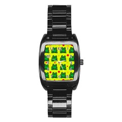 Green frogs Stainless Steel Barrel Watch