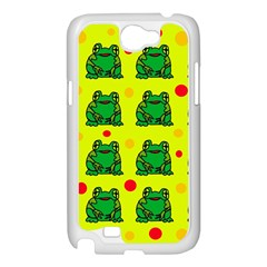 Green frogs Samsung Galaxy Note 2 Case (White)