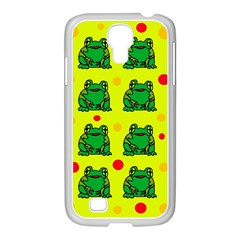 Green frogs Samsung GALAXY S4 I9500/ I9505 Case (White)