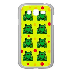 Green frogs Samsung Galaxy Grand DUOS I9082 Case (White)