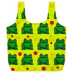 Green frogs Full Print Recycle Bags (L)