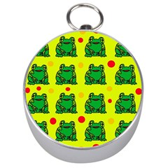 Green frogs Silver Compasses