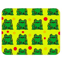 Green frogs Double Sided Flano Blanket (Medium)