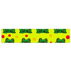 Green frogs Flano Scarf (Small)