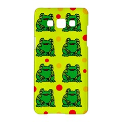 Green frogs Samsung Galaxy A5 Hardshell Case