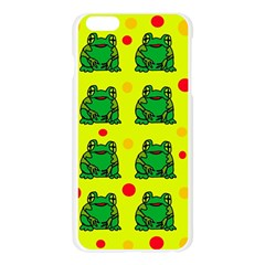 Green frogs Apple Seamless iPhone 6 Plus/6S Plus Case (Transparent)