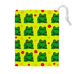 Green frogs Drawstring Pouches (Extra Large)