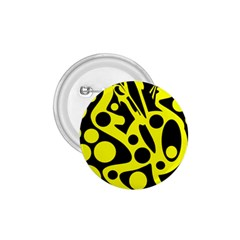 Black and Yellow abstract desing 1.75  Buttons