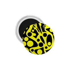 Black and Yellow abstract desing 1.75  Magnets