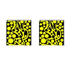 Black and Yellow abstract desing Cufflinks (Square)
