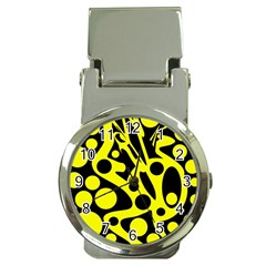 Black and Yellow abstract desing Money Clip Watches