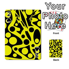 Black and Yellow abstract desing Playing Cards 54 Designs
