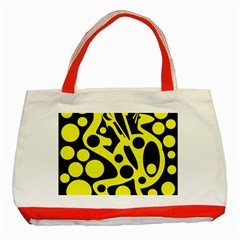 Black and Yellow abstract desing Classic Tote Bag (Red)