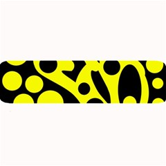 Black and Yellow abstract desing Large Bar Mats