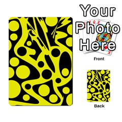 Black and Yellow abstract desing Multi-purpose Cards (Rectangle)
