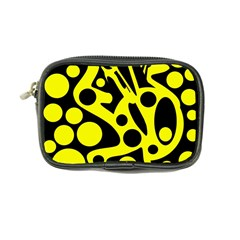 Black and Yellow abstract desing Coin Purse
