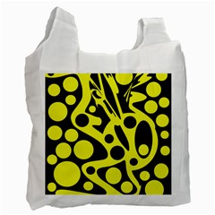 Black and Yellow abstract desing Recycle Bag (One Side)