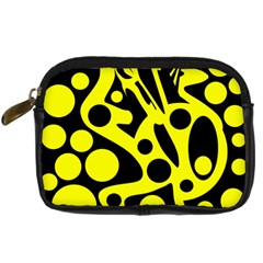 Black and Yellow abstract desing Digital Camera Cases