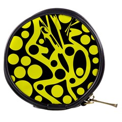 Black and Yellow abstract desing Mini Makeup Bags
