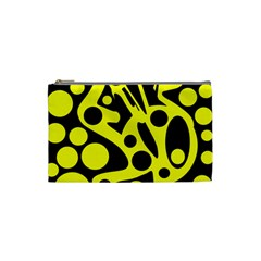 Black and Yellow abstract desing Cosmetic Bag (Small)