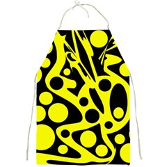 Black and Yellow abstract desing Full Print Aprons