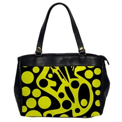Black and Yellow abstract desing Office Handbags