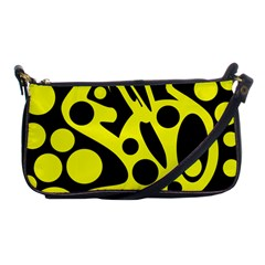 Black and Yellow abstract desing Shoulder Clutch Bags