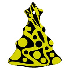 Black and Yellow abstract desing Ornament (Christmas Tree)