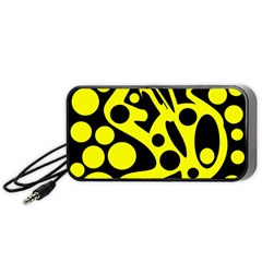 Black and Yellow abstract desing Portable Speaker (Black)