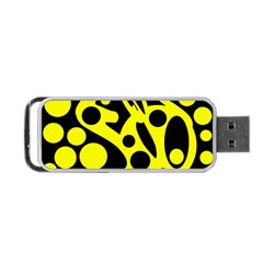Black and Yellow abstract desing Portable USB Flash (Two Sides)