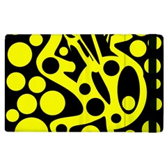 Black and Yellow abstract desing Apple iPad 3/4 Flip Case