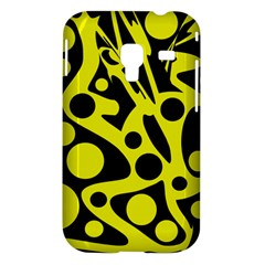 Black and Yellow abstract desing Samsung Galaxy Ace Plus S7500 Hardshell Case
