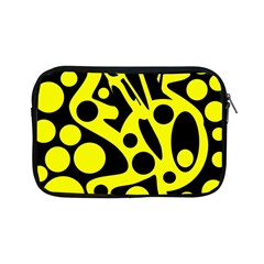 Black and Yellow abstract desing Apple iPad Mini Zipper Cases