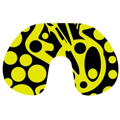 Black and Yellow abstract desing Travel Neck Pillows