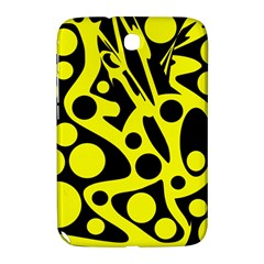 Black And Yellow Abstract Desing Samsung Galaxy Note 8 0 N5100 Hardshell Case