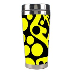 Black and Yellow abstract desing Stainless Steel Travel Tumblers
