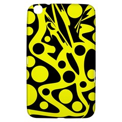Black and Yellow abstract desing Samsung Galaxy Tab 3 (8 ) T3100 Hardshell Case