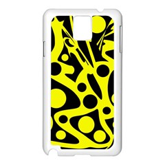 Black and Yellow abstract desing Samsung Galaxy Note 3 N9005 Case (White)