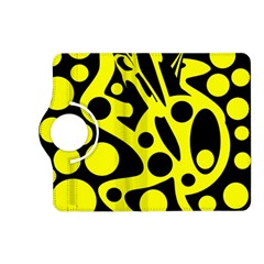 Black and Yellow abstract desing Kindle Fire HD (2013) Flip 360 Case