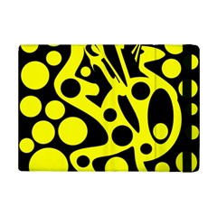 Black and Yellow abstract desing iPad Mini 2 Flip Cases