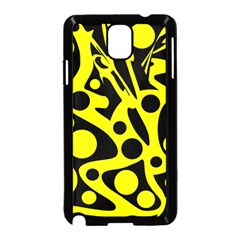 Black and Yellow abstract desing Samsung Galaxy Note 3 Neo Hardshell Case (Black)