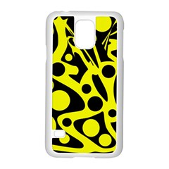 Black and Yellow abstract desing Samsung Galaxy S5 Case (White)