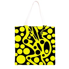 Black and Yellow abstract desing Grocery Light Tote Bag