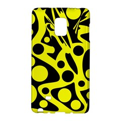 Black and Yellow abstract desing Galaxy Note Edge