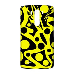 Black and Yellow abstract desing LG G3 Back Case